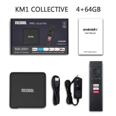Смарт ТВ приставка Mecool KM1 Collective (4GB/64GB)